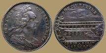 World Coins - FRANCE - AR Jeton - Louis XV - Pont du GARD - Languedoc - 1747 - RR!