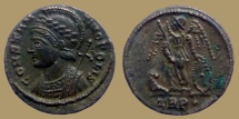 CONSTANTINOPOLIS - Ae reduced Follis - Trier mint - RIC. 530