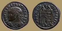Constantius II Caesar - AE reduced Follis - PROVIDENTIAE CAESS  - Campgate - Arles - RIC.312 - large