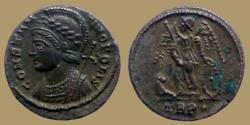 Ancient Coins - CONSTANTINOPOLIS - Ae reduced Follis - Trier mint - RIC. 530