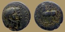 Ancient Coins - TITUS ans DOMITIAN - AE20 - Jugate heads - Lydia, Mostene - RARE