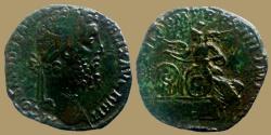 Ancient Coins - COMMODUS - AE Sestertius - VICT FELI - Very rare  Victory in Britanny
