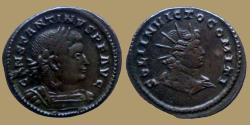 Ancient Coins - Constantinus I - AE reduced Follis - Bust of Sol - SOLI INVICTO COMITI - Trier - RIC 891