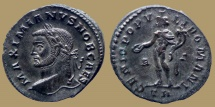 Ancient Coins - GALERIUS - Silvered Follis - left head - GENIO POPVLI ROMANI -  Trier - RIC.220 b - Quality