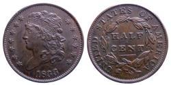 Us Coins - Half cent 1833 - high grade