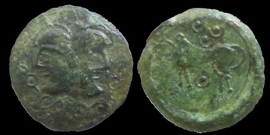 Ancient Coins - GAUL - SUESSIONNES - Bronze à la tête janiforme -