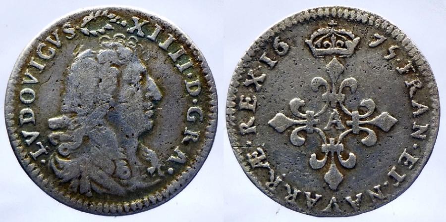 Ancient Coins - France - Louis XIV - 4 sols des traitants - 1675 A