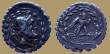 Ancient Coins - Lucius Aurelius Cotta - AR Serrate Denarius - 105 BC - Rome mint - Cr.314/1b - scarce