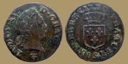 World Coins - FRANCE - LOUIS XV - Liard à la vieille tête - 1770 S (Reims mint)