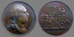 World Coins - France - Louis XVIII - Æ Medal - The King enters Paris - 1814