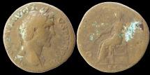 Ancient Coins - Antoninus Pius - Sestertius - OPI AVG - scarce