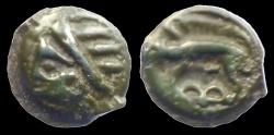 Ancient Coins - GAUL - Celtic Tribe  - LEUCI - Potin Classe 1B