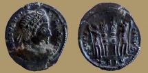 Ancient Coins - Constantine I - AE reduced Follis - GLORIA EXERCITVS - Lyon