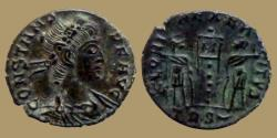 Ancient Coins - Constans - Ae 3/4 - GLORIA EXERCITVS - Trier - RIC. VIII 111