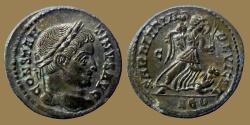 Ancient Coins - Constantine the Great - AE reduced follis - SARMATIA DEVICTA - Lyon - RIC.214