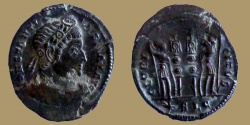 Ancient Coins - Constantine I - AE reduced Follis - GLORIA EXERCITVS - Lyon