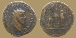 Ancient Coins - POSTUMUS - AE Double Sestertius - VICTORIAE AVG - scarce type