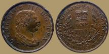 World Coins - Essequibo & Demerary - George III (1760-1820) - AE 1 Stiver 1813 - KM.10