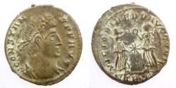 Ancient Coins - Constans - AE Reduced follis - VICTORIAE DD AVGG Q NN - Trier mint