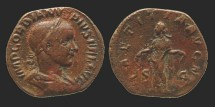 Ancient Coins - Gordianus III - Sestertius - LAETITIA AVG N