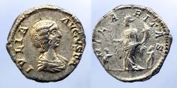 Ancient Coins - JULIA DOMNA - AR Denar - HILARITAS