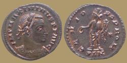 Ancient Coins - MAXIMINVS II Daia - AE reduced Follis - GENIO POP ROM - London - RIC.209b - high grade
