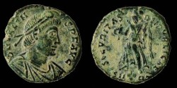 Ancient Coins - Valens  Æ 18  SECVRITAS REIPVBLICAE  Rome