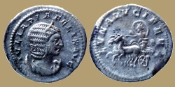 Ancient Coins - Julia Domna - AR Antoninianus - LVNA LVCIFERA - scarce