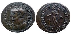 Ancient Coins - Constantius Chlorus - AE Follis - GENIO POPVLI ROMANI - Lyon - RIC.156 - rare