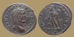 Ancient Coins - Constantius Chlorus as Caesar - AE Follis - H under bust - GENIO POPVLI ROMANI - Trier - RIC.214a