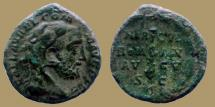 COMMODUS - Ae AS - HERCVL ROMAN AVGV - Head with lion skin - nice patina