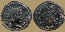 Constantine the Great - AE reduced follis - SARMATIA DEVICTA - Lyon - RIC. 214