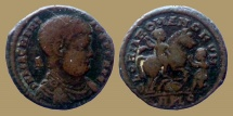 Ancient Coins - Magnentius - Maiorina - GLORIA ROMANORVM  - Lyon