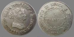 World Coins - ITALY -Principality of Lucca and Piombino - Elisa Bonaparte and Felice Pasquale Baciocchi - 5 Franchi 1805 -