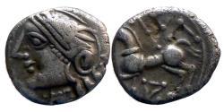 Ancient Coins - Celtic Gaul - Lingons - AR Quinarius - KALETEDOY- nice!