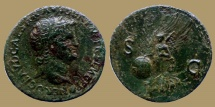Ancient Coins - NERO - As - Victory - Lyon mint