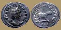 Ancient Coins - Otacilia Severa - Antoninian - SAECVLARES AVGG - Hippopotamus - RIC.116b - Rare