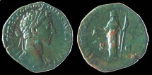 Ancient Coins - COMMODUS - Sestertius - LIBERTAS AVG