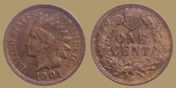 Us Coins - USA - indian head - 1 cent 1901