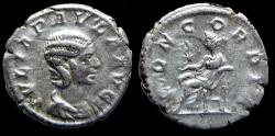 Ancient Coins - JULIA PAULA - Denar - CONCORDIA