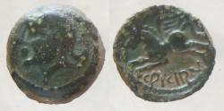 Ancient Coins - Gaul - Suessiones trib - AE unit - CRICIRV type