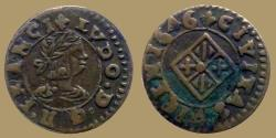 World Coins -  Spain -  Catalonia Louis XIII of France -  AE Dinero 1646 - Vich - RARE and quality