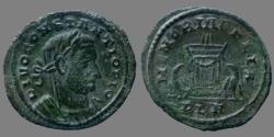 Ancient Coins - Constantius Chlorus - AE Follis - MEMORIA FELIX - London - RIC.110