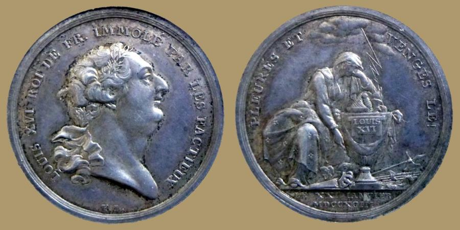 World Coins - FRANCE - Louis XVI - AR Medal - 1793 - Mourning and Vengeance