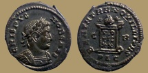 CRISPUS - AE Reduced Follis - BEATA TRANQVILLITAS - Lyon mint - RIC.133