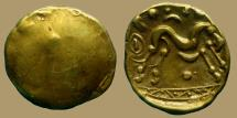 Ancient Coins - GAUL - Ambiani Trib - AV Stater - uniface - nice quality