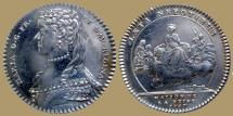 World Coins - FRANCE - AR Jeton - Maria Leczinska - Wife of Louis XV - 1757