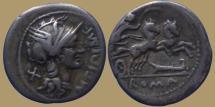 Ancient Coins - M. Cipius M.f. - AR Denarius - 115-114 BC - Rome mint - Cr.289/1