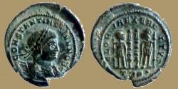 Ancient Coins - Constantine II - AE reduced Follis - GLORIA EXERCITVS - Trier - heavy