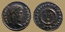 Ancient Coins - Crispus - AE reduced follis - CAESARVM NOSTRORVM VOT X - Trier mint -  RIC.440